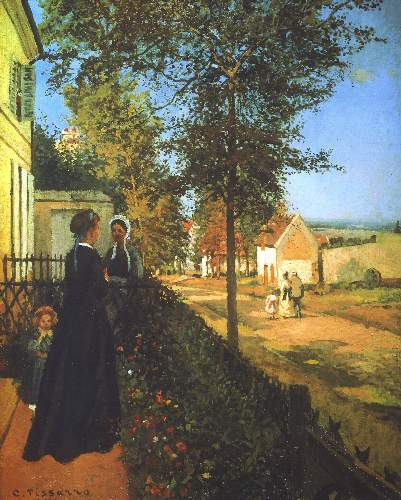 The Road from Versailles to Louvecienne by Pissarro
