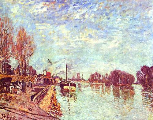 The Seine at Suresne by Sisley