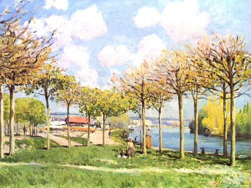 The Seine in Bougival 2 by Sisley