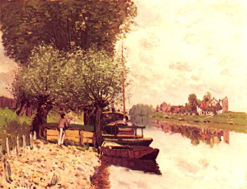 The Seine in Bougival by Sisley