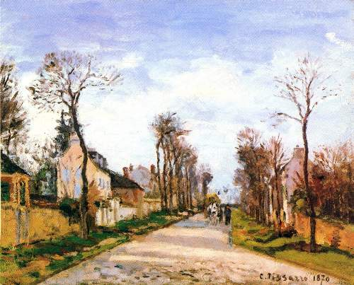 The Versailles road 2 by Pissarro