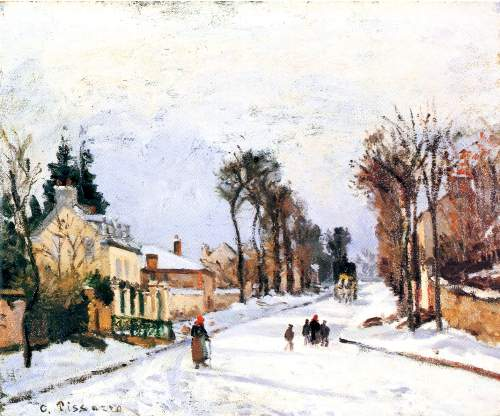 The Versailles road by Pissarro