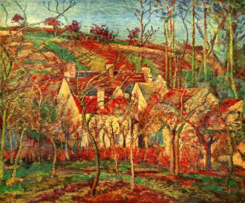 The red roofs by Pissarro