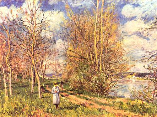 The small meadows in spring by Sisley