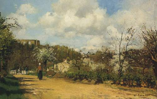 View from Lauveciennes by Pissarro