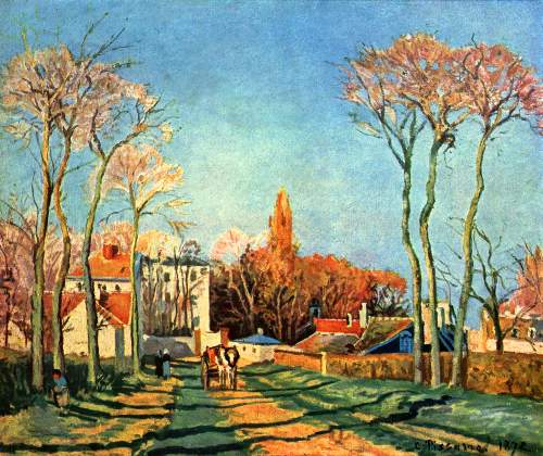 Village entrance of Voisins by Pissarro