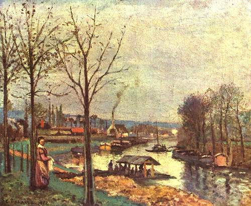 Wash place of Pontoise by Pissarro
