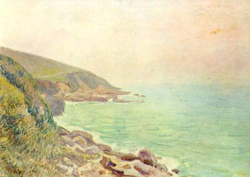 Welsh coast in the fog by Sisley