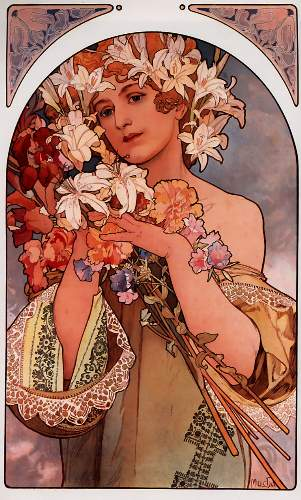 Flowers by Alphonse Mucha