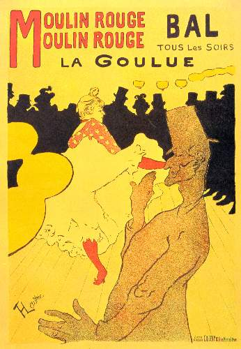 Moulin Rouge la Goulue by Toulouse-Lautrec