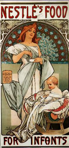 Nestle by Alphonse Mucha