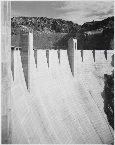 Adams - Boulder Dam close up