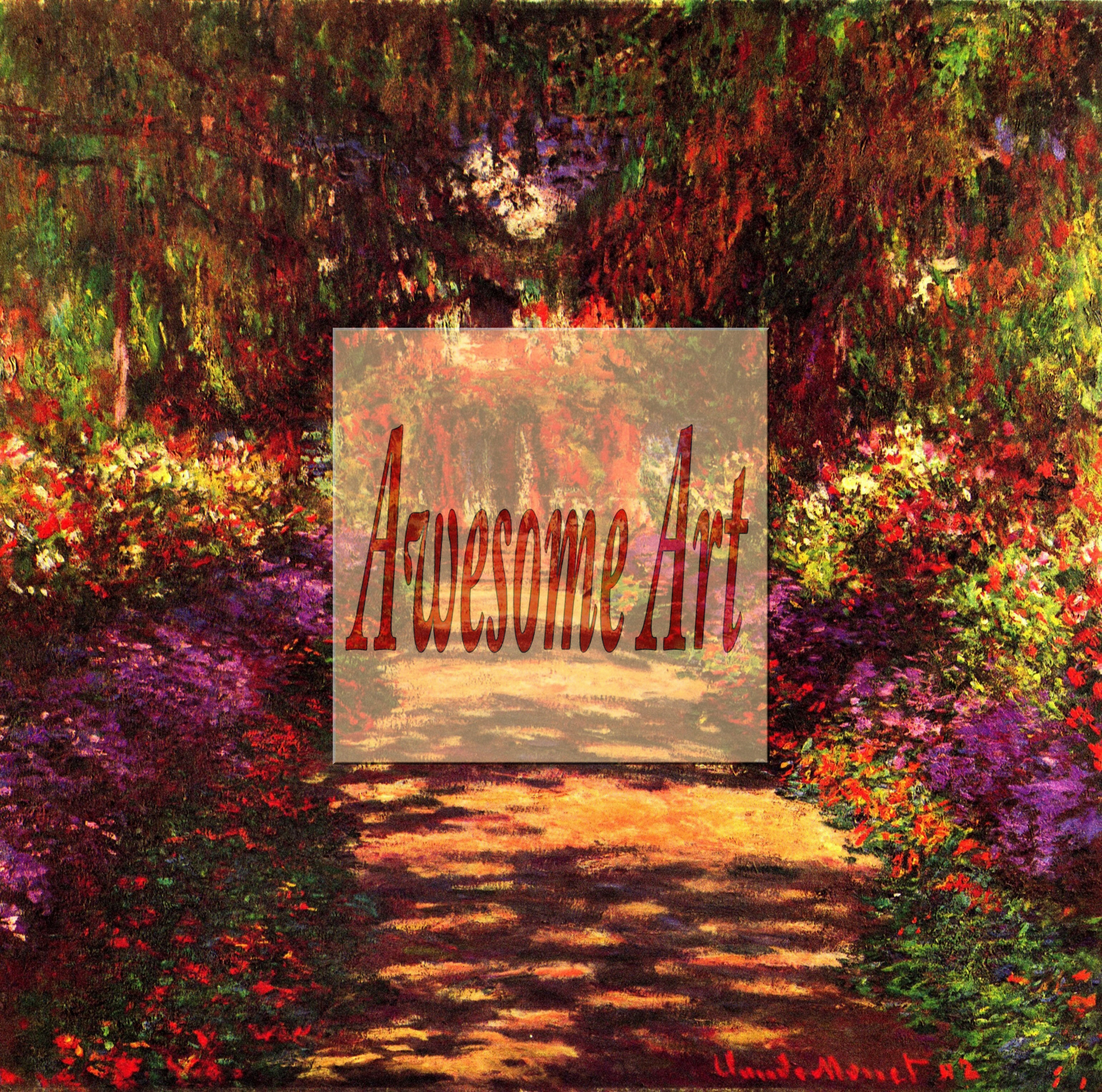 Monet - Path in Monets garden in Giverny