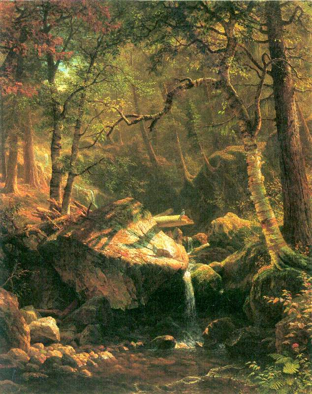 The Trappers/' Camp by Albert Bierstadt Giclee Canvas Print