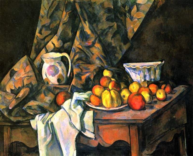 Still life with apples and