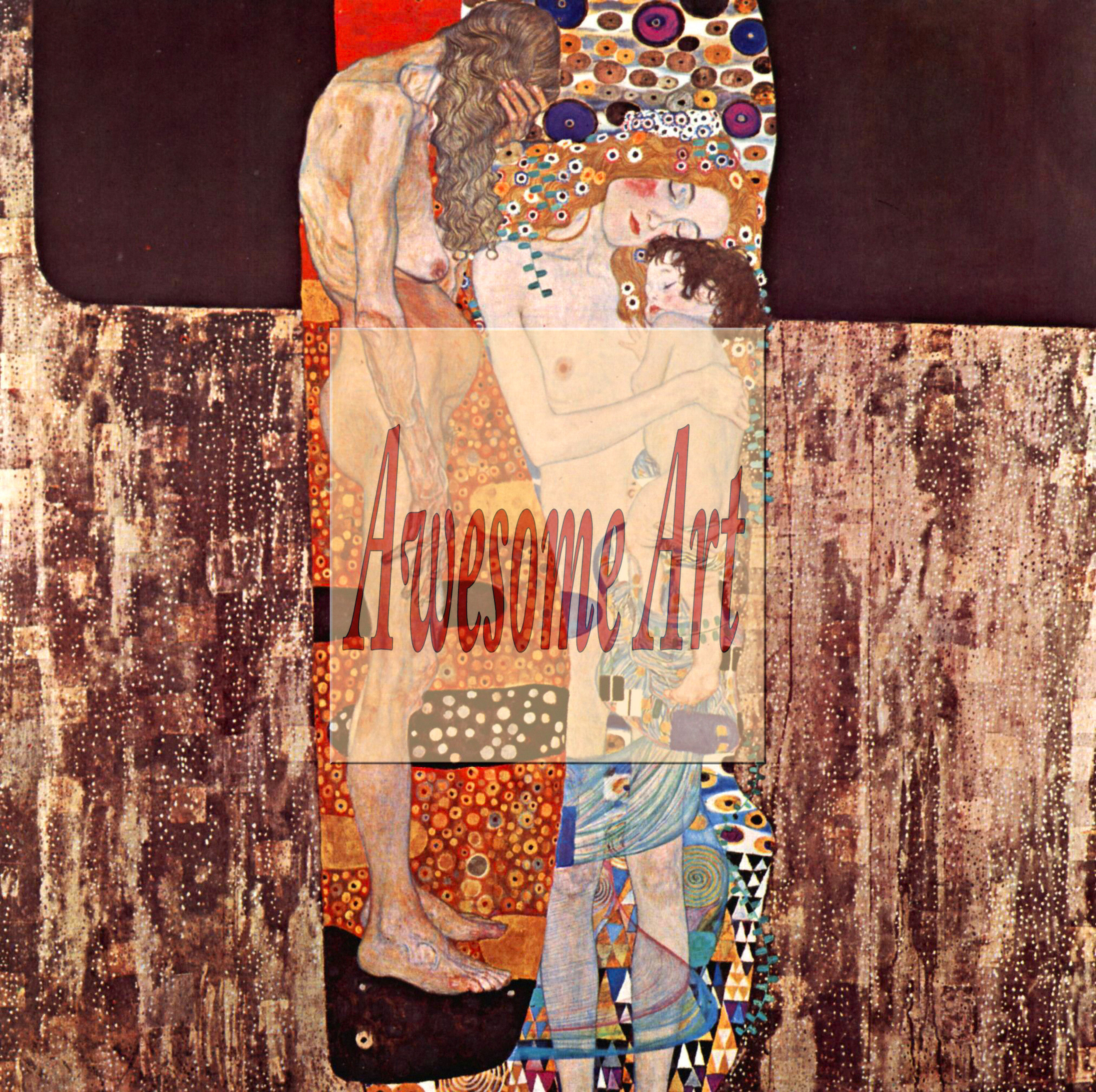 Klimt - The three ages of a womanKlimt Three Ages Of Woman