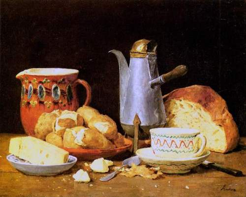 Anker - Still life. Coffee, Milk and potatoes, 1896