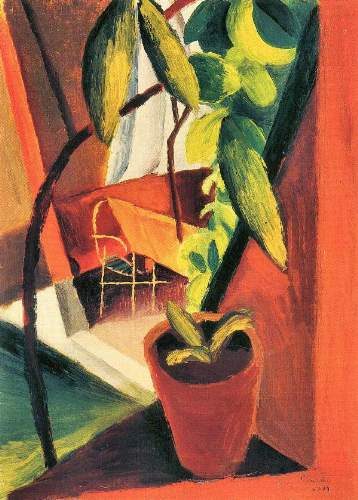 August Macke - A look into summer house