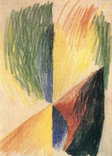 August Macke - Abstract Form 14