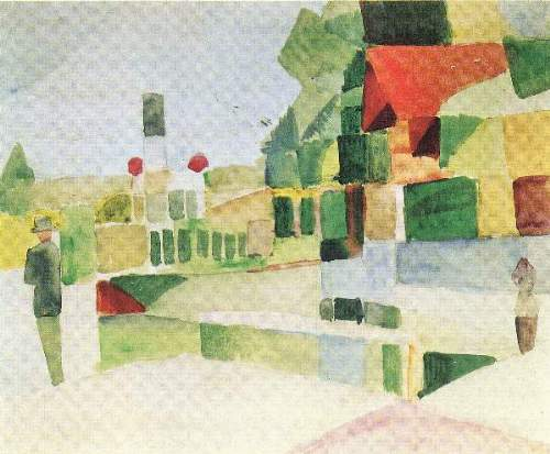 August Macke - At the ships