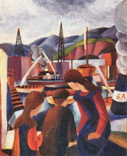 August Macke - Children at the port (I)
