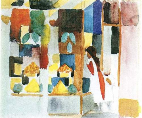 August Macke - Children at the vegetable shop (I)