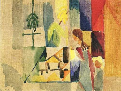 August Macke - Children at the vegetable shop (II)