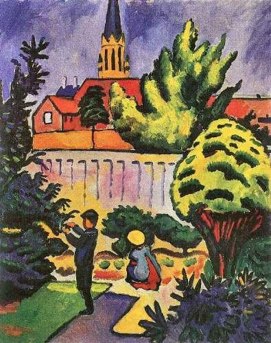 August Macke - Children in the Garden