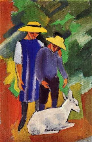 August Macke - Children with goat