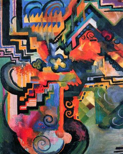 August Macke - Color Composition (I)