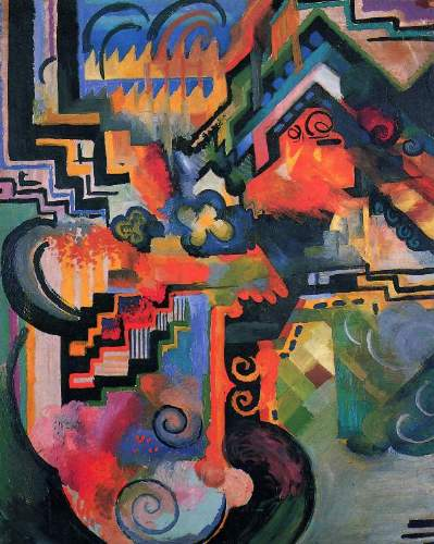 August Macke - Colored composition (Hommage a Johann Sebastian Bach)