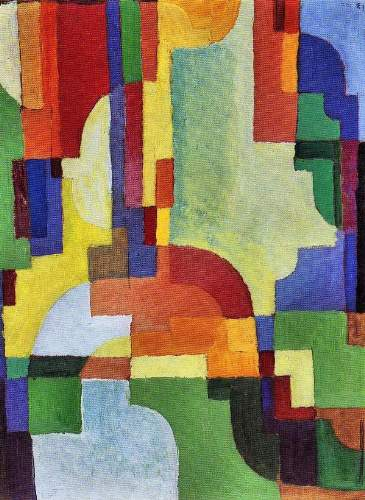 August Macke - Colored forms (I)