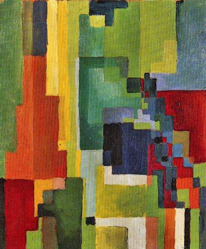 August Macke - Colored forms (II)
