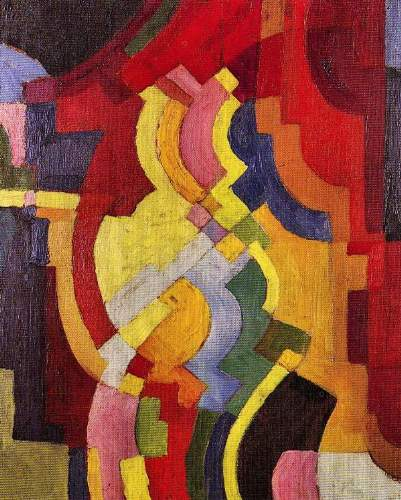 August Macke - Colored forms (III)
