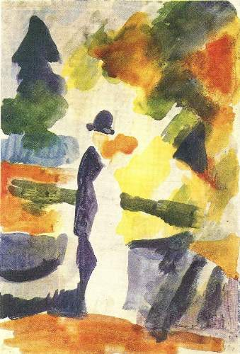 August Macke - Couple in the park