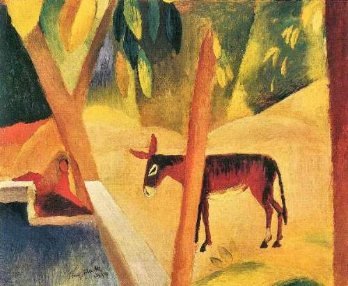 August Macke - Donkeys in the palms