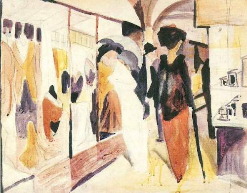August Macke - Fashion shop porch