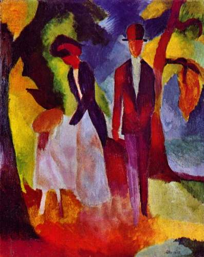 August Macke - Folks at the blue sea
