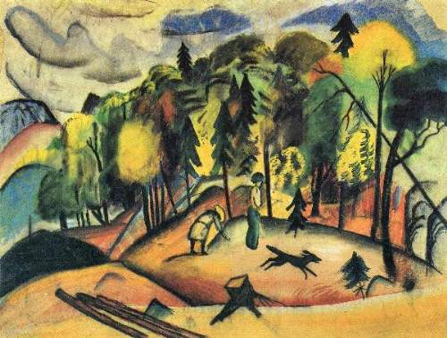 August Macke - Forest Walk