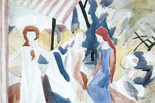 August Macke - Four girls on Altane