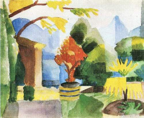 August Macke - Garden in Hilterfingen