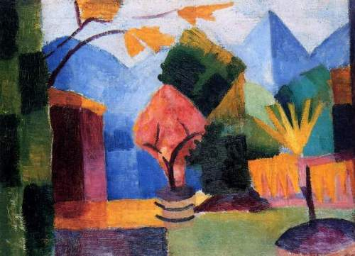 August Macke - Garden on the lake of Thun