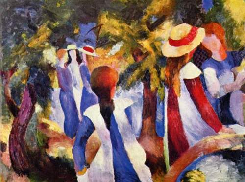August Macke - Girls in the Open