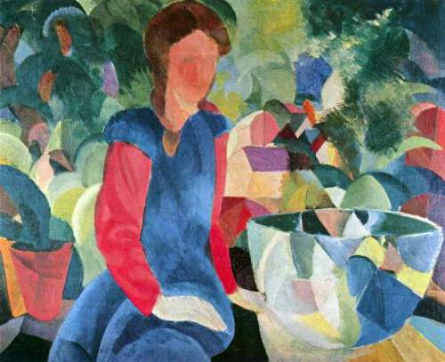 August Macke - Girls with fish bell