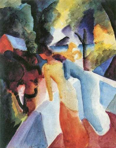 August Macke - Greetings from the balcony