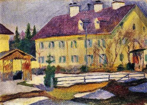 August Macke - Hospital in Tegern Sea