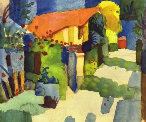 August Macke - House in the Garden