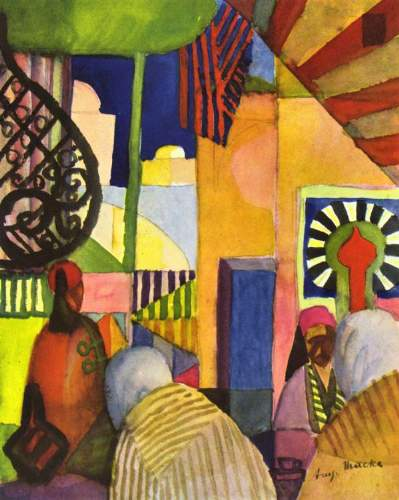 August Macke - In the bazaar