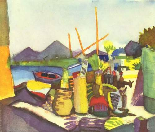 August Macke - Landscape at Hammamet