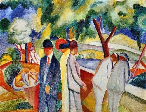 August Macke - Large bright walk